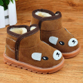 Size21-30 Fur boots kids Children Winter Snow Boots Thick Warm Shoes Suede Buckle toddler ankle Boys Girls fashion casual Boots