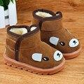 Size21-30 botas crianças Crianças Botas de Neve de Inverno de Espessura De Pele Quente Sapatos de Camurça Fivela criança tornozelo Botas Das Meninas Dos Meninos moda casual