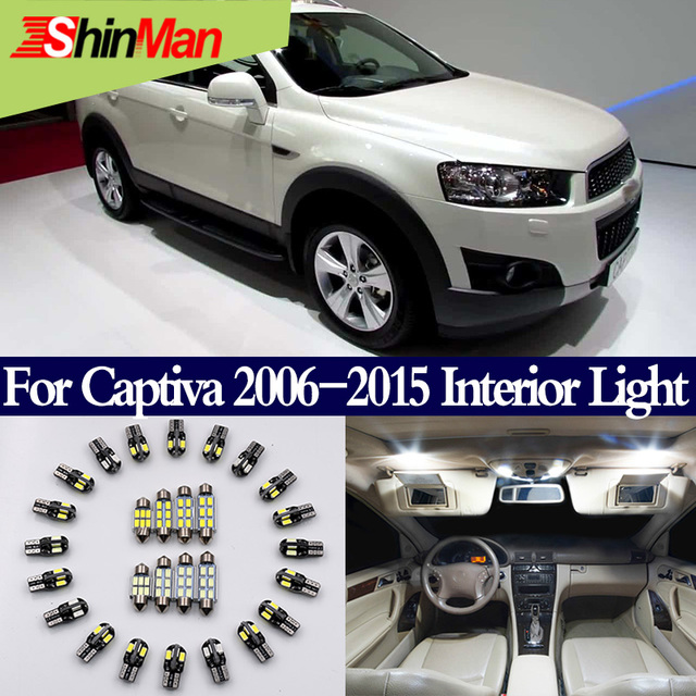 ShinMan 9x Canbus Error Free LED Interior Lighting Kit Conversion For Chevrolet Captiva Accessories