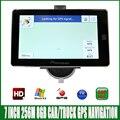 7 дюймов HD экран Автомобиля bluetooth GPS Навигации FM/8 ГБ/256 МБ новейший Карта Для России/европа/США испания грузовик MTK CE6.0 Навигатор