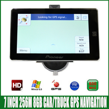 7 inch HD screen Vehicle bluetooth GPS Navigation FM/8GB/256MB newest Map For Russia/Europe/USA spain truck MTK CE6.0 Navigator