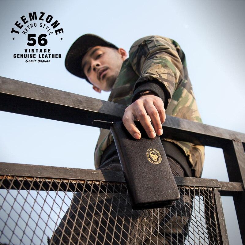 Men Leather Wallet High Quality Fashion Zipper Wallets Men Famous Brand Long Purse Male Clutch Casual