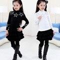 Roupas para crianças meninas do bebê camisola criança blusas meninas camisola outono inverno 4-6-10 anos crianças completo o pescoço roupa dos miúdos