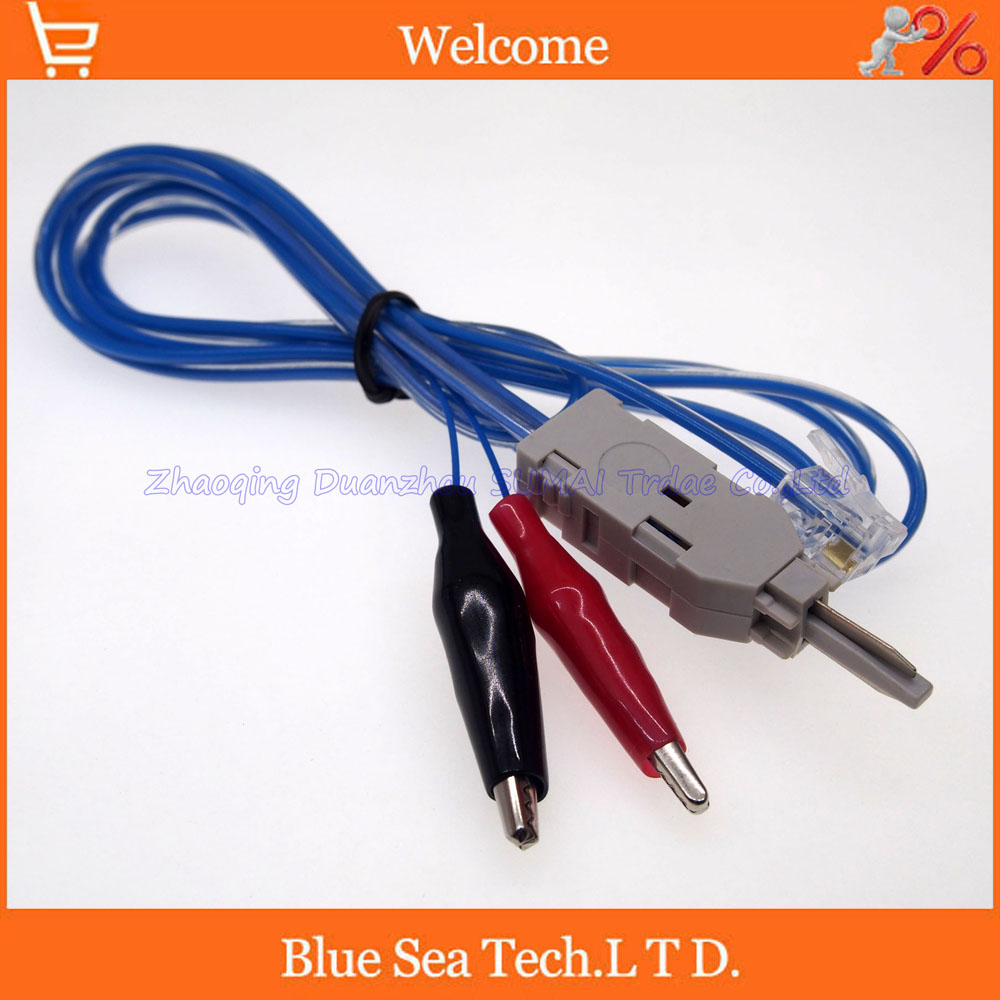 Sample 2pcs 3 ports telephone/phone professional testing line RJ11 test clip for communication