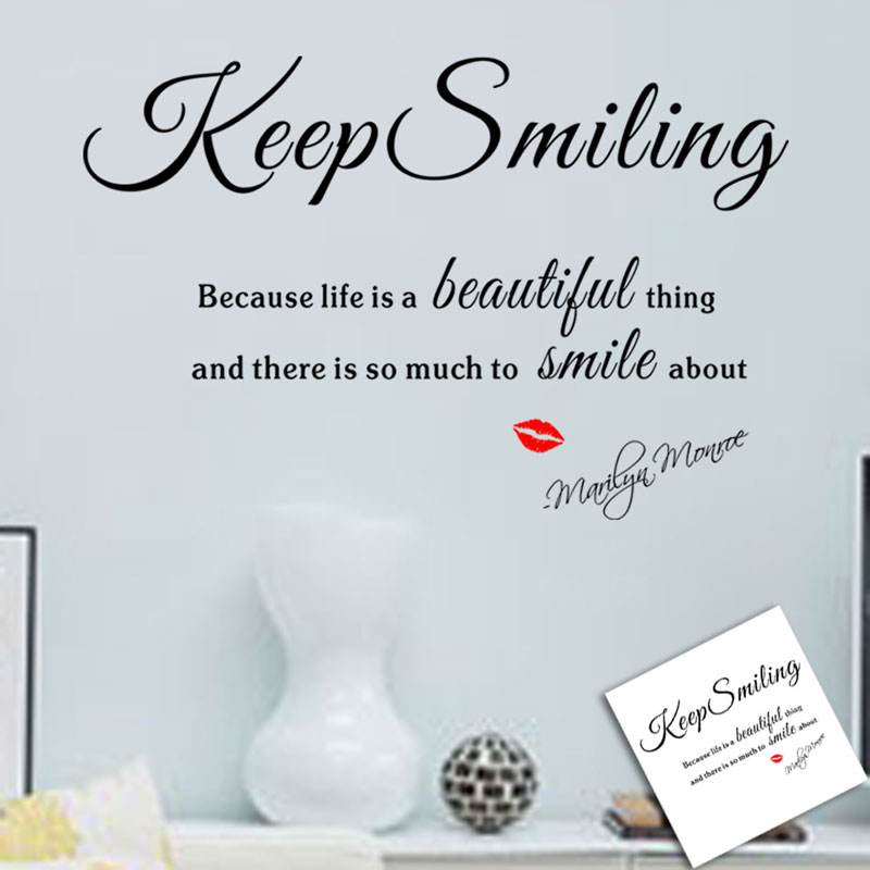 Monroe lips keep smiling sticker self adhesive custom Living room bedroom background home decor pvc Generation wall stickers