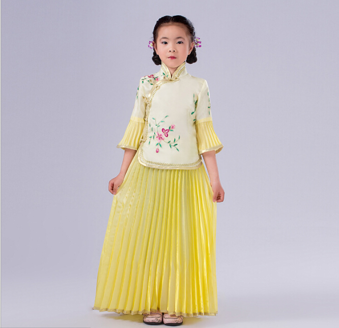 2016 New Arrive 6 Color  Children new Chinese Costume Hanfu Children's Clothes of Tang Dynasty Costumes Cosplay Party Dress
