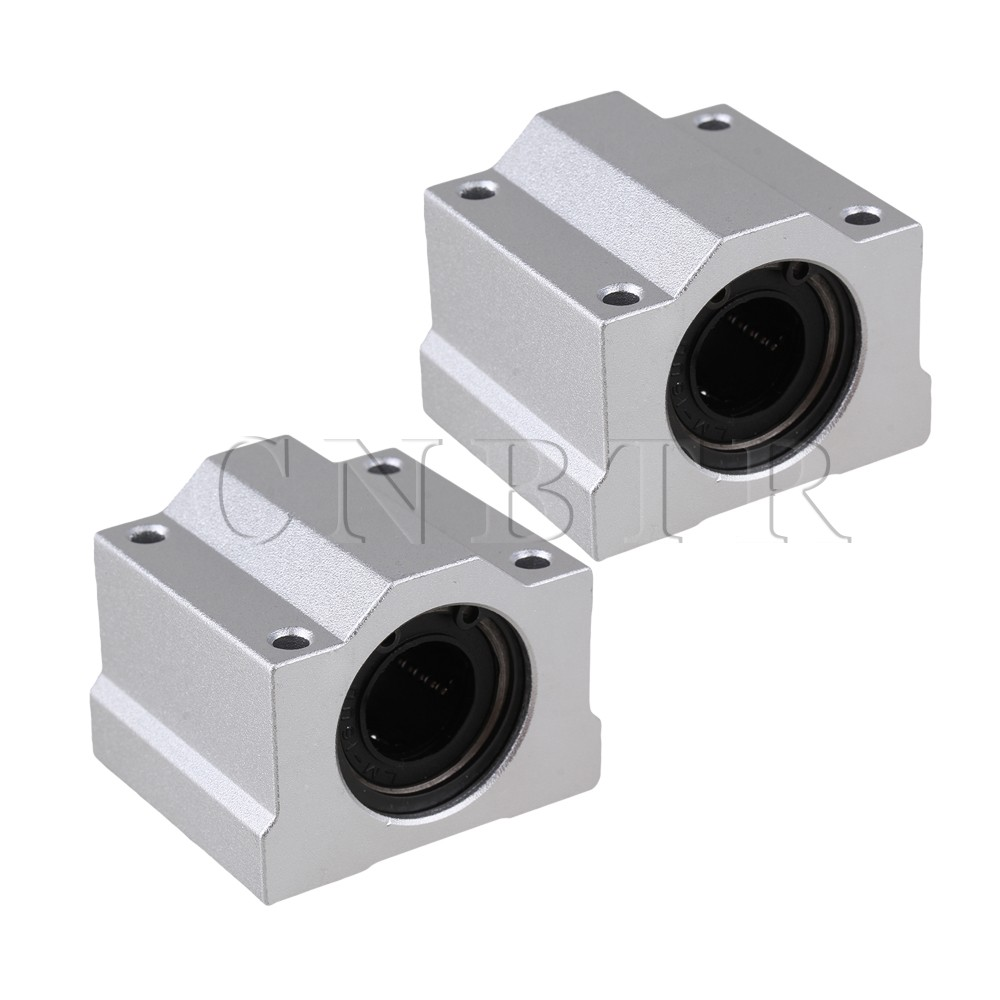 CNBTR 2pcs SC16UU Linear Motion Ball Bearing CNC Slide Bushing 50mm Length scv25uu 25 mm linear motion ball bearing slide unit bushing