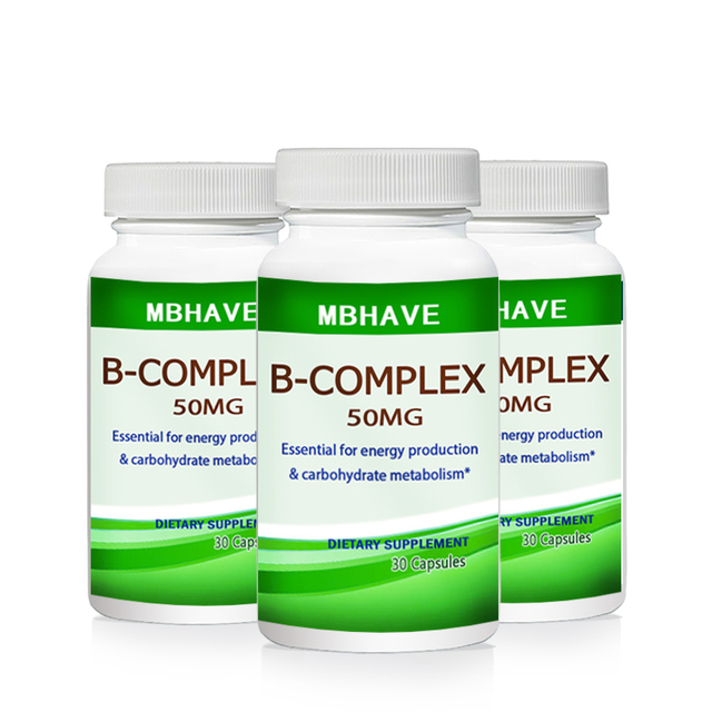 HOT DEAL 2017 3 bottles Vitamin B Complex Capsules High Strength All 9 B Vitamins Biotin & B12 B complex