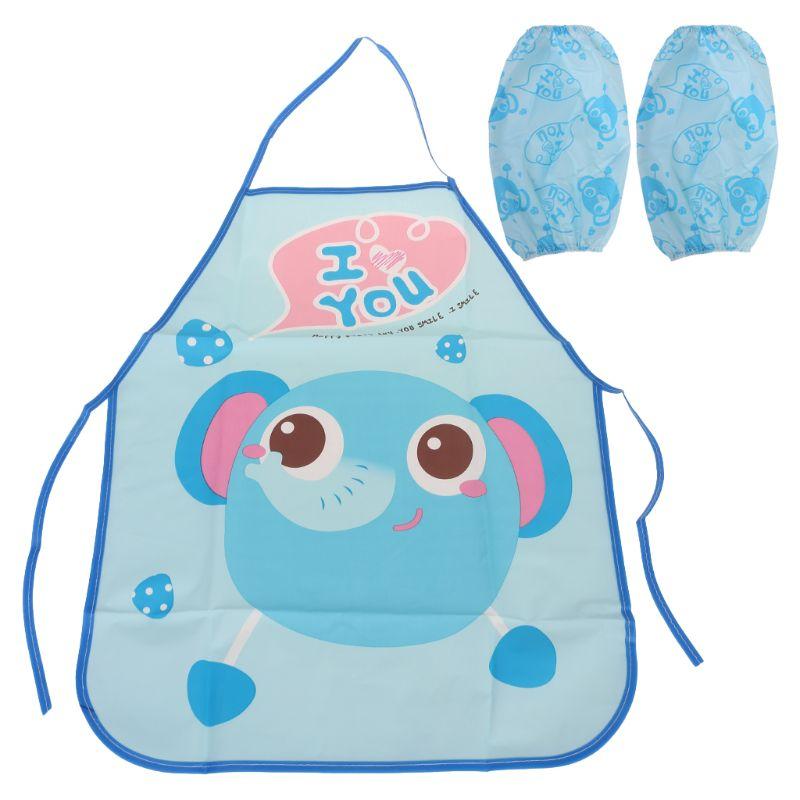 1 Set Kids Schort Mouwen Kinderen Schilderen Keuken Koken Waterdichte Bescherming Maat Verstelbaar Baby Spullen Superieure Prestatie