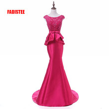New arrival elegant party dress Prom Dresses Long dress Vestido de Festa mermaid beading lace long gown cheap FADISTEE Beading Lace Appliques Sweep Train Satin Regular Polyester Nylon Cotton Scoop Floral Print Sleeveless Floor-Length