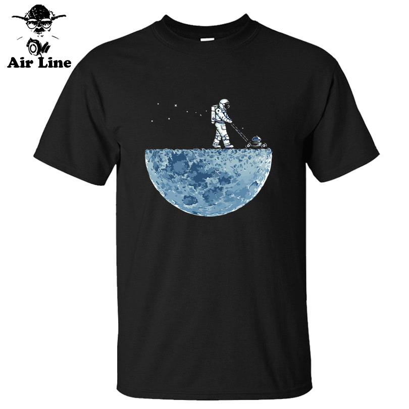 Air Line short sleeve   T  -  shirt   men brand clothing astronaut pattern casual   T     shirt   male top quality 100% cotton