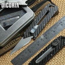 DICORIA Original Papel Olfa cuchillo Mango de Titanio de acero inoxidable hoja de Poda herramienta EDC táctico que acampa cuchillos de bolsillo al aire libre