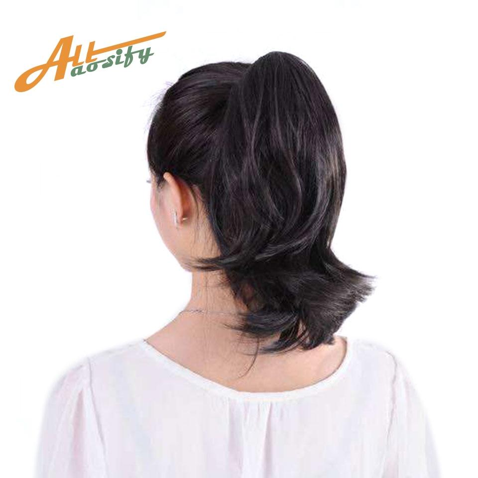 "allaosify hair 6"" short ponytail"