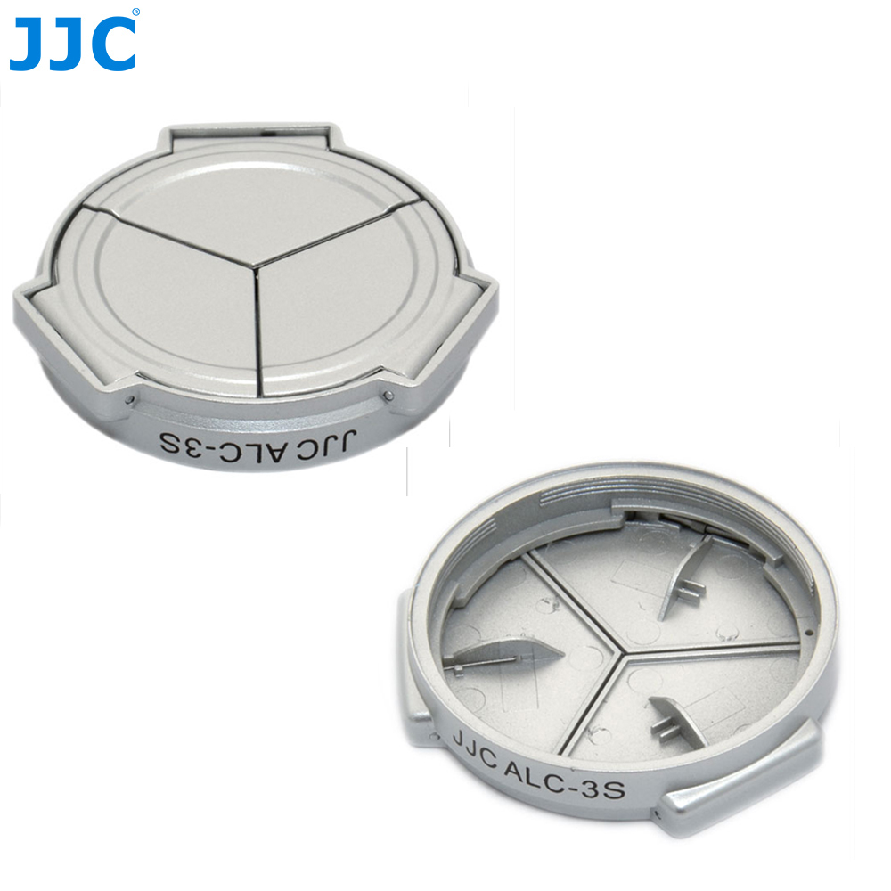 JJC Silver Self-Retaining Auto Open Close Lens Protector Automatic Lens Cap for PANASONIC DMC-LX3/Leica D-Lux4 (silver)