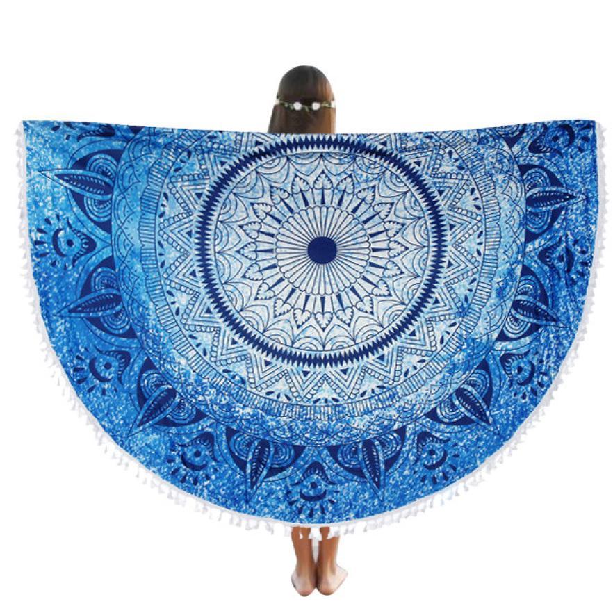 HOMEGD Round Beach Pool Home Shower Towel Blanket Table Cloth Yoga Mat 18Mar20 Drop Ship