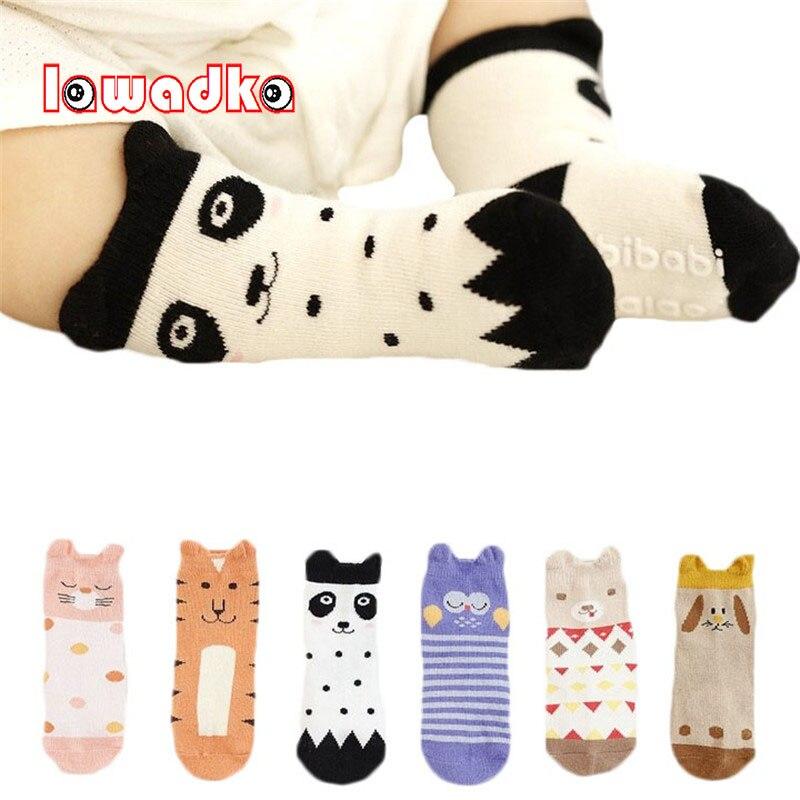 Lawadka Cartoon Baby Socks Newborn Cotton Boys Girls Kid Socks Cute Toddler Anti-slip Socks Children Clothing Accessories