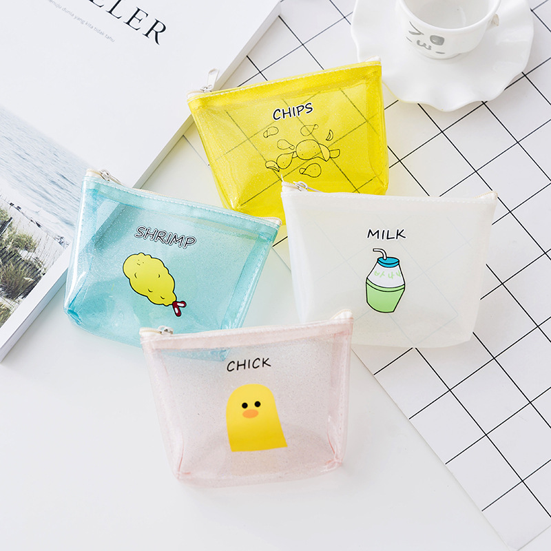 2018 New fashion Cute cartoon jelly coins purses soft transparent waterproof mini wallet girl small coin bag for student Coin