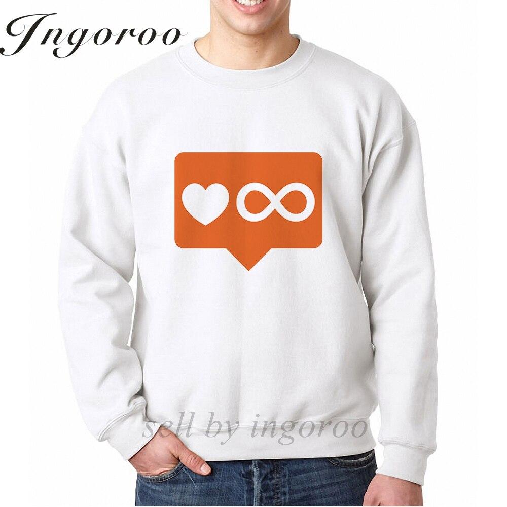 Babaseal Infinite Love Notification Print Harajuku Off White Hoodie Bts Sweatshirts Dropshipping Suppliers Usa Men Sweatshirts