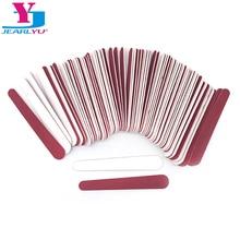 100x мини Пилочки для ногтей 180/240 деревянный одноразовый красный, белый шлифовальный шнек для салонного маникюра наконечник ногтей, для маникюра, маникюрный набор