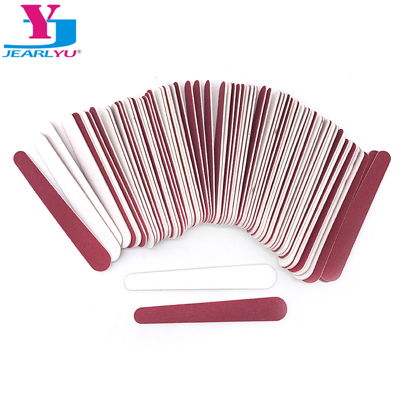 100x Mini Nail Files 180/240 Wooden Disposable Red White Sanding Polishing Buffer Salon Manicure Tip Nail Art Tool Manicure Set
