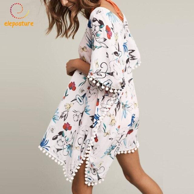 75c2da4220b1f 2017 Beach Cover Up Chiffon Dress Swimsuit Cover Up Floral Print Pareo  Sarongs Swimwear Tunic Bathing Suit Cover Ups Beachwear