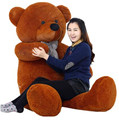 2016 New Kawaii 160cm Giant Teddy Bear Plush Soft Toys Kids Toys Huge Stuffed Animals Cheap Ted Dolls Best Gifts for Child