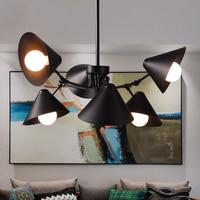 American retro industrial loft spider chandelier Cafe bedroom archaize hanging light