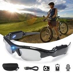 1080 P HD поляризованные линзы солнцезащитные очки Камера Спорт на открытом воздухе видео Регистраторы спортивные солнцезащитные очки видеок...