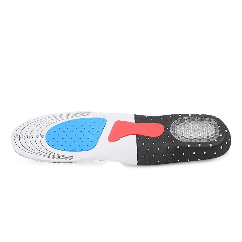 2 paire/lot semelle intérieure unisexe légère soutien de la voûte plantaire coussinet de chaussure silicone Absorbant les chocs semelle intérieure antidérapante