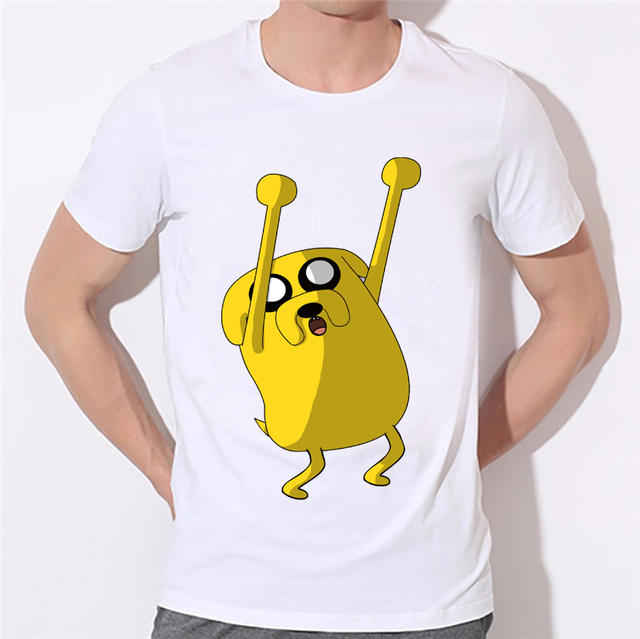 68fb4581d79b2 Custom Couples Casual Design Shirts New Funny Men s T Shirt Adventure Time  Finn Jake Space Mens Short Sleeve T-Shirt W-327