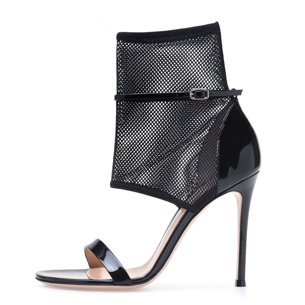 2019 summer new fashion sexy transparent mesh Roman style fashion sandals cool boots2019 summer new fashion sexy transparent mesh Roman style fashion sandals cool boots