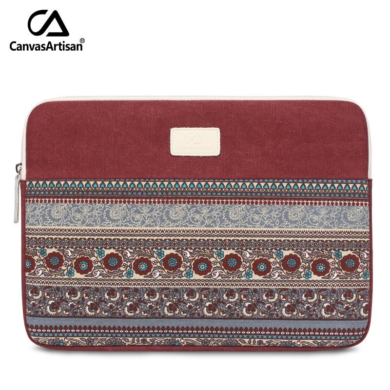 Ολοκαίνουργια 14 ιντσών χαρτοφύλακες καμβά ρετρό στυλ μανίκια προστατευτικό σακίδιο τσάντα με τσέπη φερμουάρ για 14 '' φορητό μήλο
