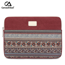 Brand new 14 inch canvas briefcases retro style notebook protective bag laptop sleeves with zipper pocket for 14 '' apple laptop