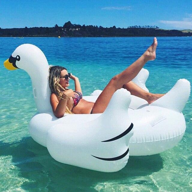 60 дюйм(ов) белый Лебедь бассейна гигантские надувные мороженое Matt4ress плавательный круг вечерние воды забавная игрушка River Island буй пляжный кровать