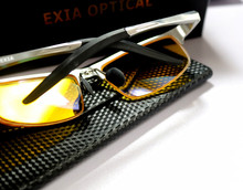 Polarized Yellow Lenses Anti-Ultra Violet Ant-Reflective Men Sunglassses EXIA OPTICAL KD-320 Series