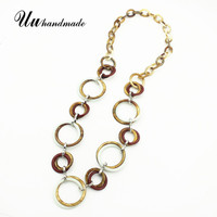 2018 Acrylic New Kolye Long Pendant Choker Necklace Women Colar Feminino For Pingente Jewelry Charms Angel Maxi Vintage Collier