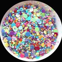 4000 stücke Multi Größe 1-4mm Flache Dot form Pailletten Pailletten für Nägel Kunst maniküre/hochzeit dekoration konfetti Mix farben