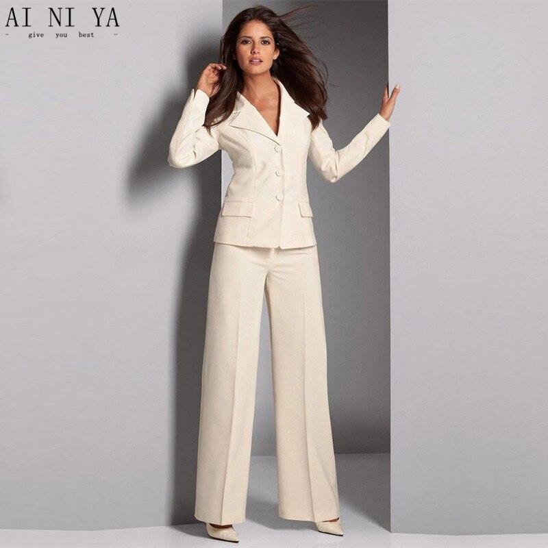 Tailleur Signore Formale Elegante Avorio Di Donne Pantalone Vestito  wIxatq58t 07f265574ab