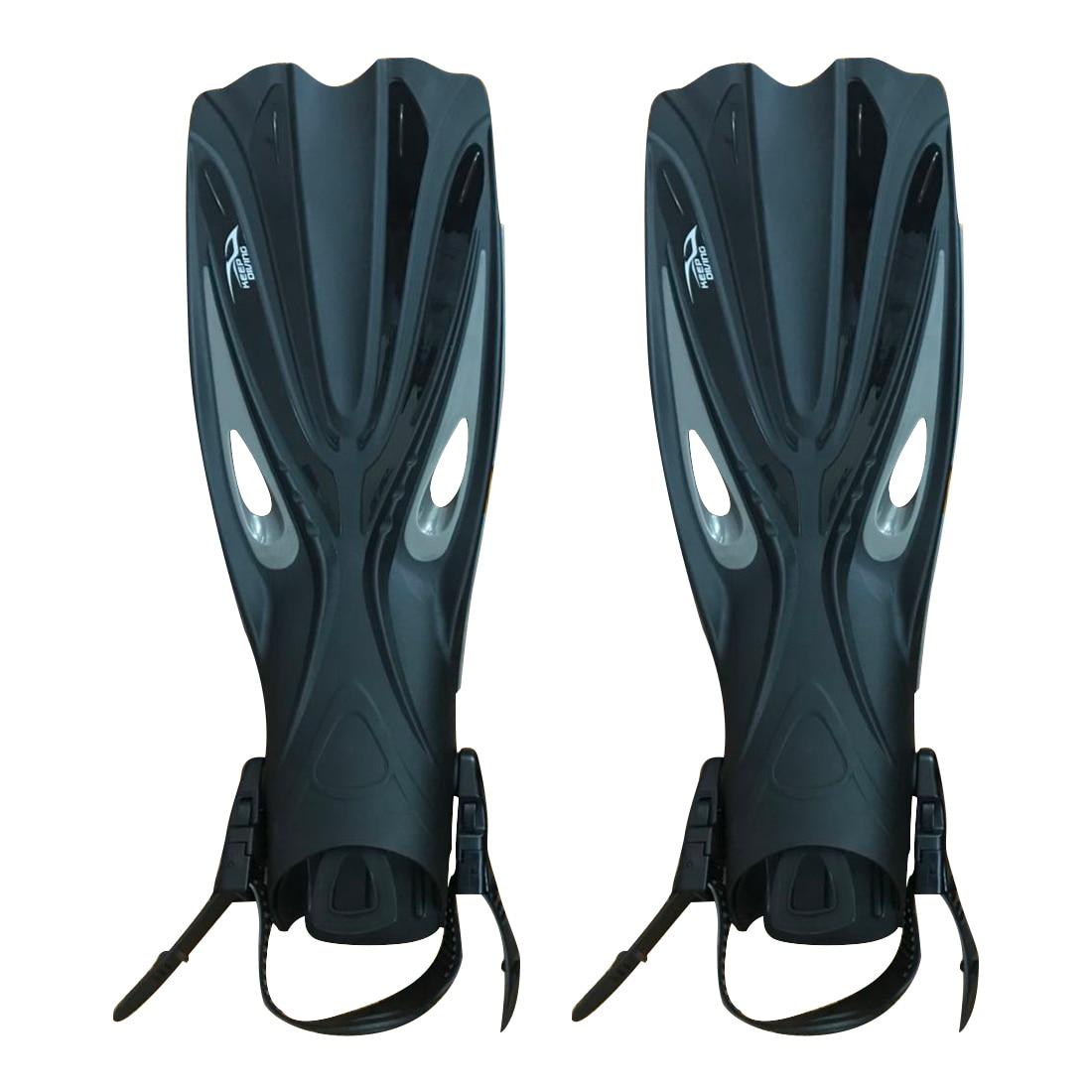 Garder la plongée à talon ouvert plongée sous-marine longues palmes réglables plongée en apnée nageoires spéciales pour les bottes de plongée chaussures