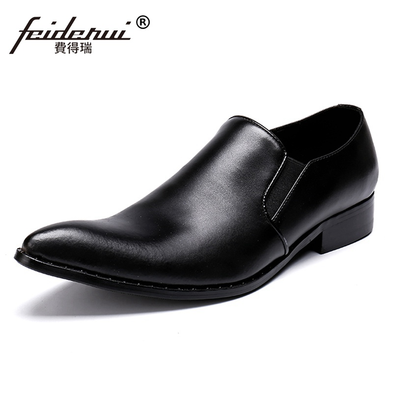 Plus Size New Classic Pointed Toe Man Formal Dress Wedding Loafers Genuine Leather Slip on Mens Banquet Party Shoes SL332Plus Size New Classic Pointed Toe Man Formal Dress Wedding Loafers Genuine Leather Slip on Mens Banquet Party Shoes SL332