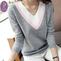NYMPH New Spring Autumn Winter Women Sweater 2016 Fashion V Neck Ladies Pullover Tops Long Sleeve Knitted Sweater Female Jumper