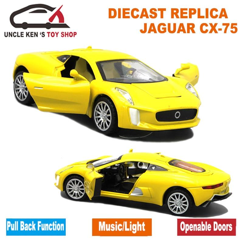1/32 Μοντέλο Ζυγαριάς Diecast Jaguar CX-75, 15cm - Οχήματα παιχνιδιών - Φωτογραφία 5