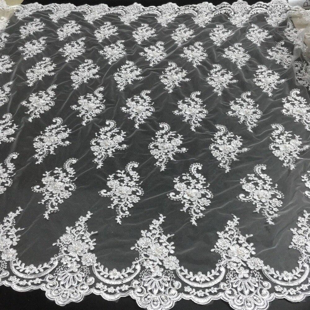 alta qualidade laço francês malha tecido frisado