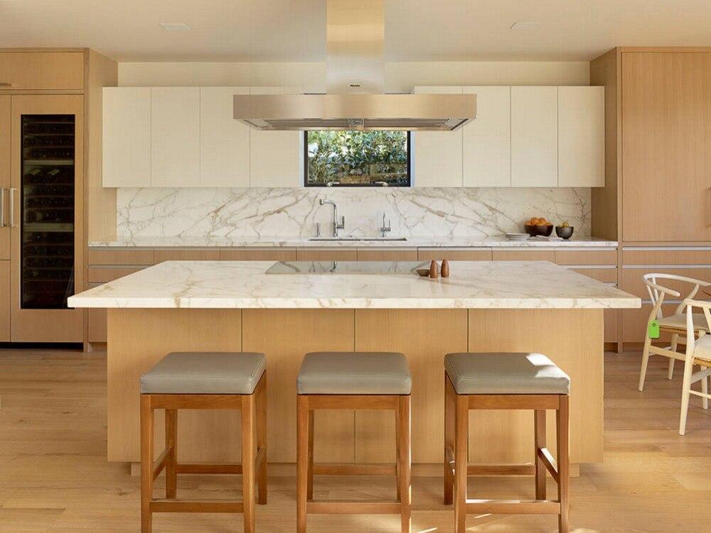 2017 nueva caliente Muebles de cocina de madera sólida gabinetes de cocina sin terminar precio barato al por mayor de la cocina remodelación proveedor