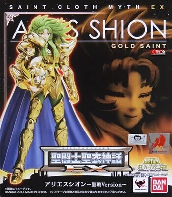 <font><b>BANDAI</b></font> japan version Model toys <font><b>Saint</b></font> <font><b>Seiya</b></font> <font><b>Cloth</b></font> <font><b>Myth</b></font> Gold Ex2.0 Aries Pope Shion action Figure toy child gift image