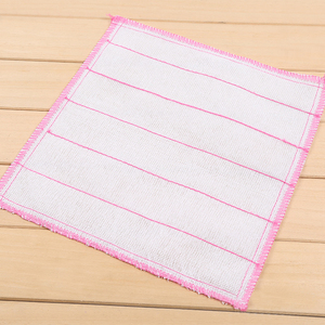 1 Pcs 28/30 cm Microfiber Cleaning Cloth Scouring Pad Towel Kitchen Cleaning Wipes Rags Home Washing Dish Cloth Bathroom Tool