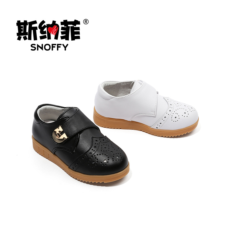 Snoffy Children Dress Shoes British Style Black School Kids Shoes For Boys Party Wedding Brogue Shoes TX216
