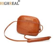 HIGHREAL Shell Women Messenger Bags High Quality Cross Body Bag PU Leather Mini Female Shoulder Bag Handbags Bolsas Feminina