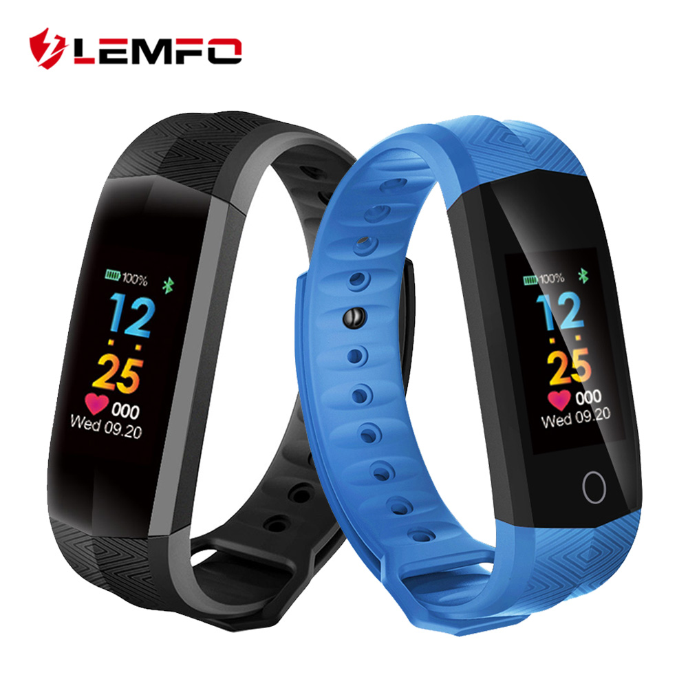 LEMFO Wristbands Smart Band Heart Rate Monitor Fitness Bracelet IP67 Waterproof Smart Band Bluetooth for IOS Android Phone