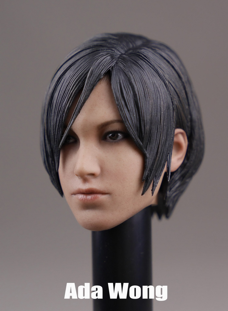 1/6 scale figure Accessory Resident Evil headsculpt ada wong head shape for 12 Action figure doll,Not included body and clothes 1 6 scale figure accessory batman wayne headsculpt bale head shape for 12 action figure doll not included body and clothes